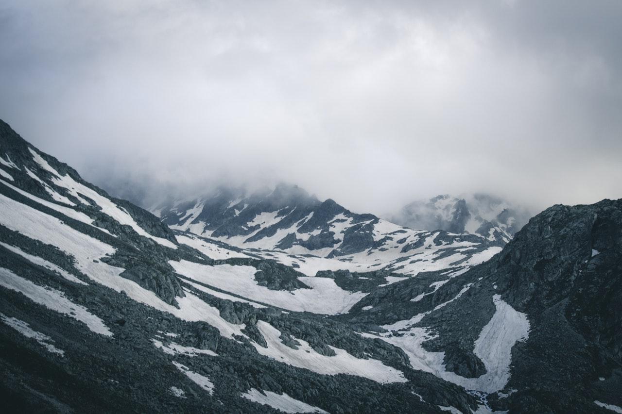 Frozen glacier mountain